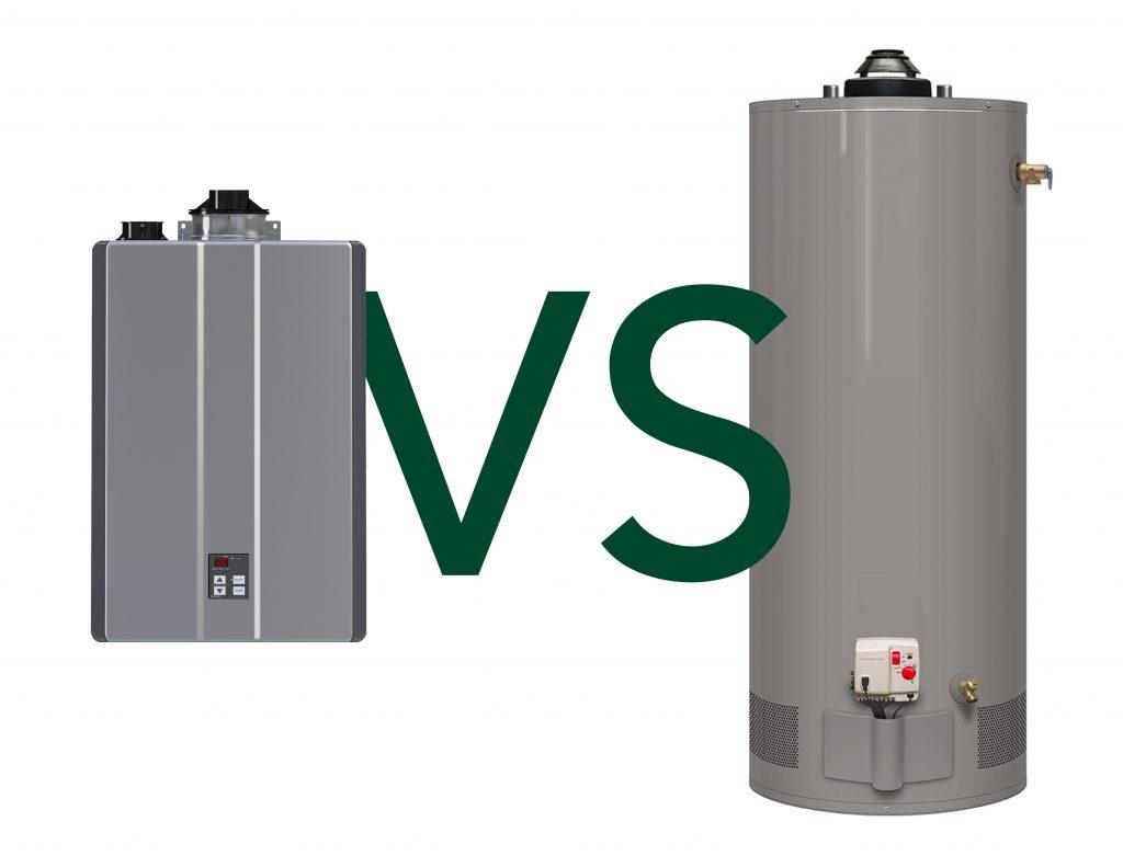 tank vs tankless water heater